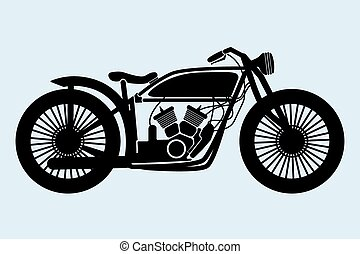 old motorcycle clipart  Classic motorcycle Clipart and Stock Illustrations. 7,047 Classic ...