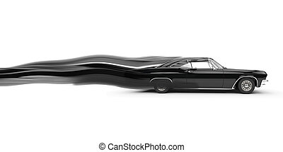 Classic muscle black car