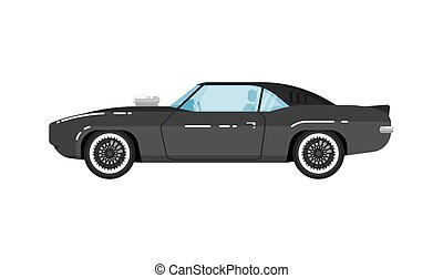 Classic muscle car isolated vector illustration