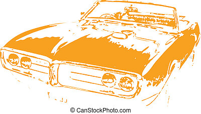 Classic Muscle Car Vector Clipart