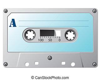 Classic music cassette with simple retro label