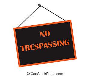 Classic No Trespassing Sign