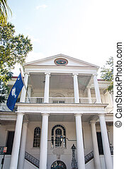 Classic Old Columns with South Carolina Flag