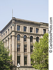 Classic Old Office Building in Seattle - A large, old,...