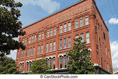 Classic Old Square Brick Building