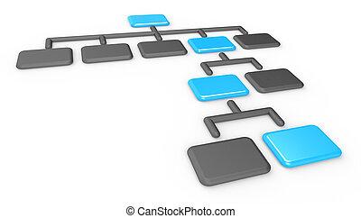 Organization Chart. - Classic Organization Chart. Matte...