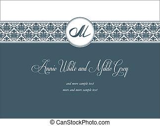 Classic ornamental invitation - Classic wedding invitation...