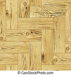 Classic wooden oak parquet flooring - seamless vector texture