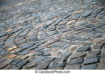 Classic pavement - Close-up of a classic pavement with...
