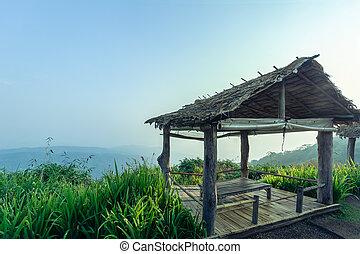 Classic Pavilion on Natural Landscape