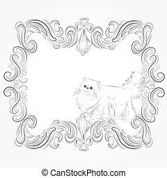 classic persian frame card