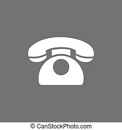 Classic phone icon on a dark background