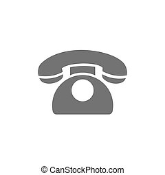Classic phone icon on a white background
