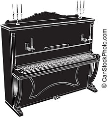 Classic Piano - Piano Vector