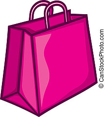classic pink shopping bag