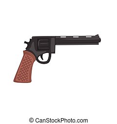 Classic pistol gun cartoon vector Illustration