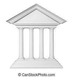 Classic portal. 3d illustration isolated on white background...
