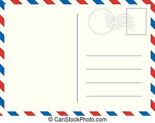 Classic postcard. Vector illustration for your designs.