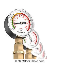 pressure gauge 3d
