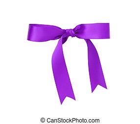 classic purple ribbon bow