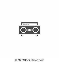 classic radio icon isolated on white background