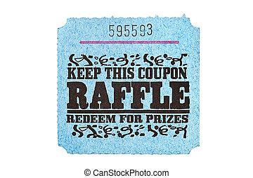 Classic raffle ticket - A classic raffle drawing ticket stub...