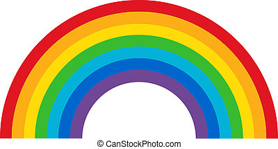 Classic Rainbow made from basic spectrum colors