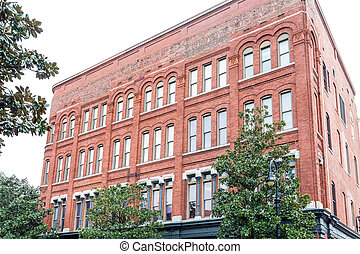 Classic Red Brick Building in Savannah
