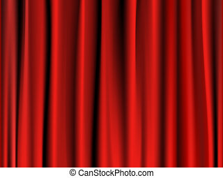 Classic red curtain - Abstract classic stage red curtain...