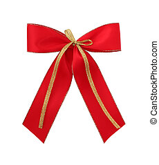 Classic red giftbow with path - Classic red giftribbon ...