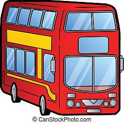 Double Decker Bus - Classic Red London Double Decker Bus
