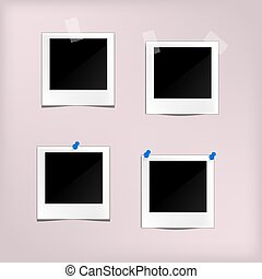 Classic retro style  Set of vector template photo frame