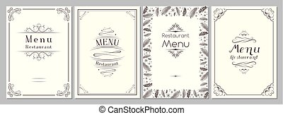 Classic/ retro/ vintage restaurant menu cover