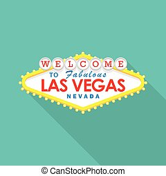 Classic retro Welcome to Las Vegas sign