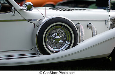 Classic roadster - restored vintage automobile