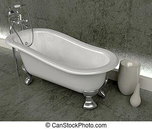 classic roll top bath - 3d render of classic roll top bath...