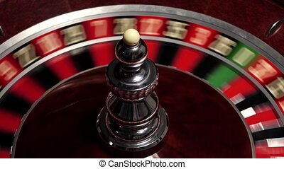 Classic roulette white ball, close up