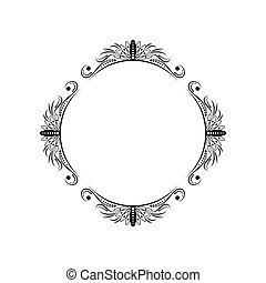 Classic round elegant black frame