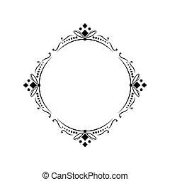 Classic round elegant vector frame