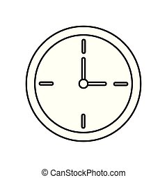 classic round wall clock icon isolated on white background
