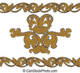 Classic royal style bronze ornament