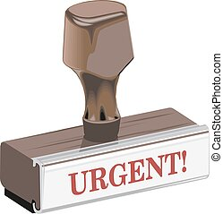 Classic rubber stamp urgent vector