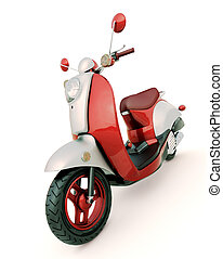 Classic scooter - Modern classic scooter on a light...