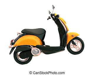 Classic scooter isolated