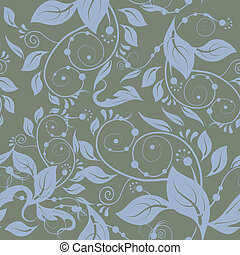 Classic seamless - Classic floral seamless gray background....