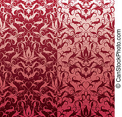 Classic Seamless Floral Wallpaper, editable vector illustration