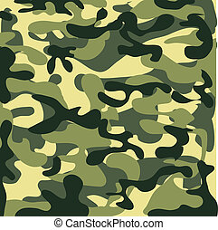 Classic Seamless Military Camouflage Pattern Background
