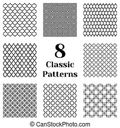 Classic seamless patterns