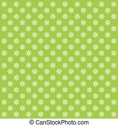 Classic seamless vintage flower pattern on green background