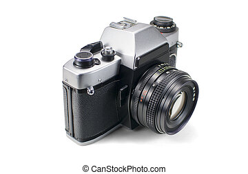 Classic SLR camera isolated